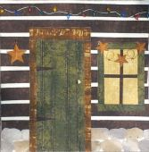 log cabin door quilt photo